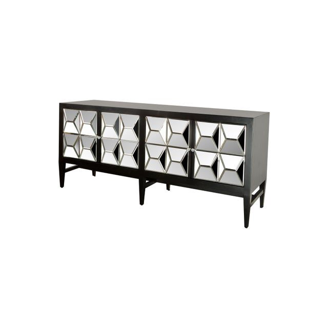 2010s Contemporary Wooden & Glass Spike Sideboard For Sale - Image 5 of 6