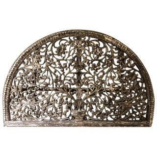 Carved Wooden Wall Hanging or Headboard