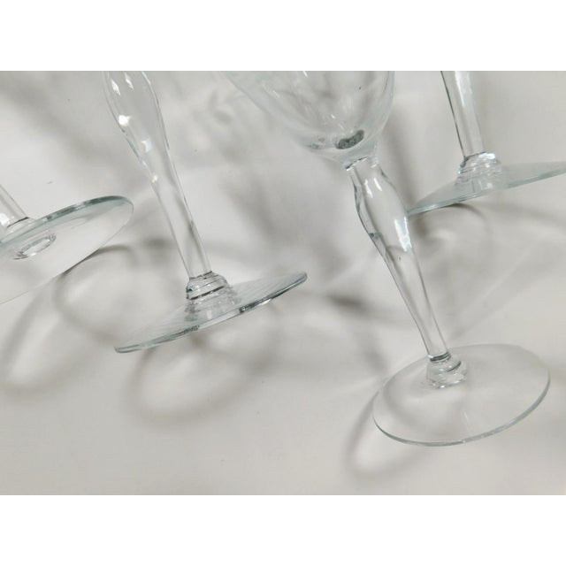 Etched Clear Wine Glasses - Set of 4 For Sale - Image 9 of 13