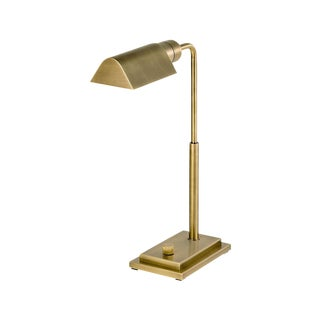 Townhouse English Brass Desk Light For Sale