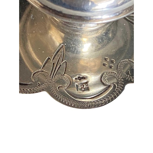Metal Antique Opaline Box With Silver Finial For Sale - Image 7 of 10