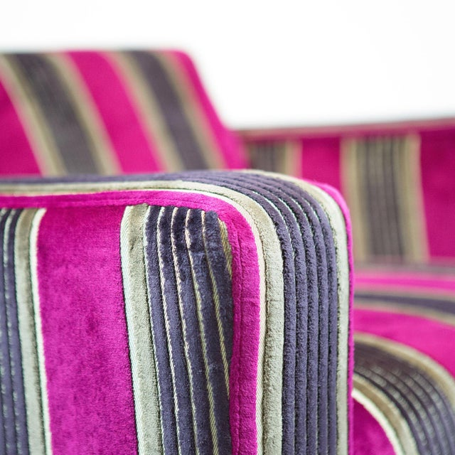 British Airways First Class Striped Club Chair - Image 9 of 10
