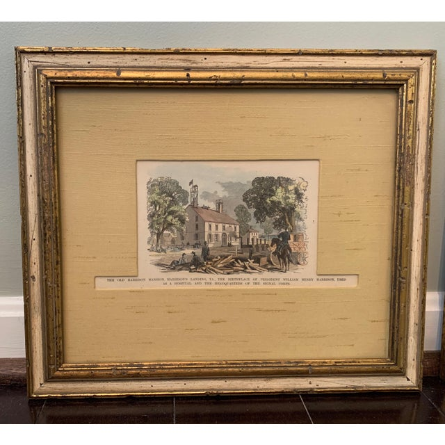 Late 19th Century Colored Etching, Framed For Sale In Washington DC - Image 6 of 6
