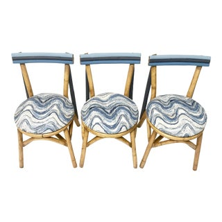 Ocean Wave Kitchen Chairs - Set of 3
