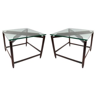 Brazilian Jacaranda Side Tables - a Pair For Sale