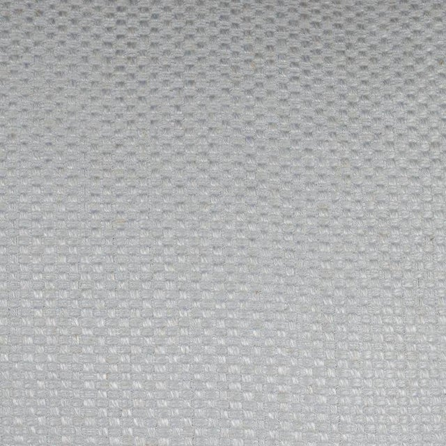 1920s Pair of Square Pillows in Patterned White Gold Italian Handwoven Silk For Sale - Image 5 of 6