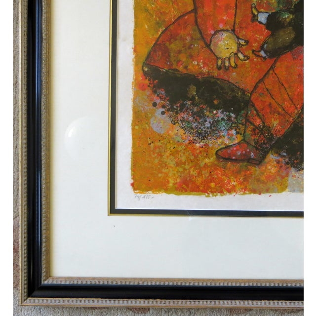 """Late 20th Century Theo Tobiasse """"The Little Girl and The Old Man"""" Lithograph For Sale - Image 5 of 6"""