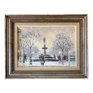 Impressionism Oil on Board Guy C. Wiggins For Sale
