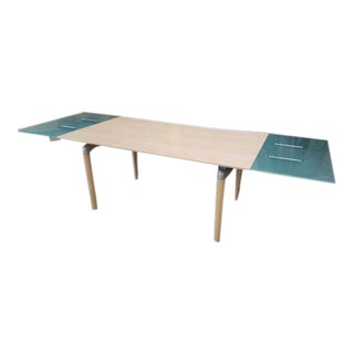 Extendable 8170 Table by Rolf Benz With Frosted Glass For Sale
