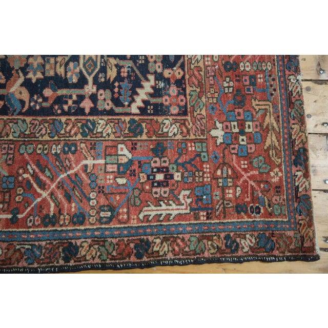 """Blue Vintage Karaja Rug - 4'7"""" x 6' For Sale - Image 8 of 10"""