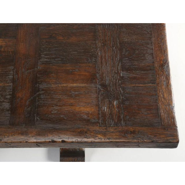 French Oak Trestle Dining Table For Sale In Chicago - Image 6 of 13