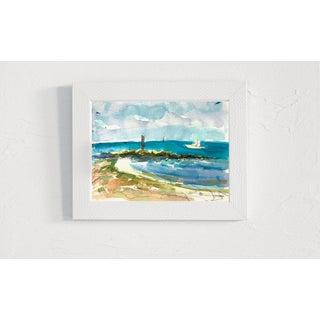 """Key West #8"" Seascape Original Watercolor Painting by Rebecca Dvorak Preview"