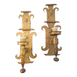 Chunky Big One Arm Sconces From Barcelona - A Pair For Sale