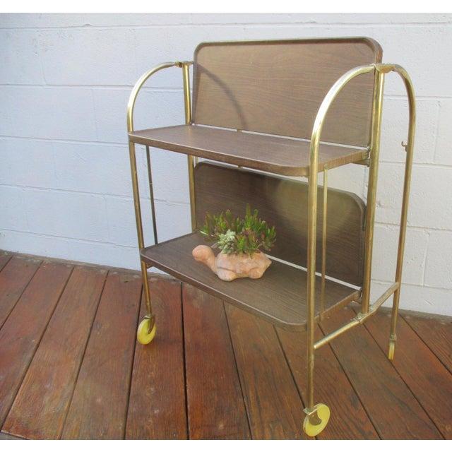 Folding Metal Bar Cart - Image 6 of 10