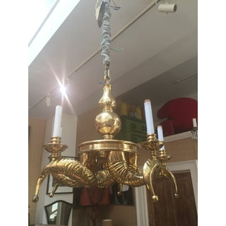 Solid Brass Vintage Ram Horn Chandelier Preview