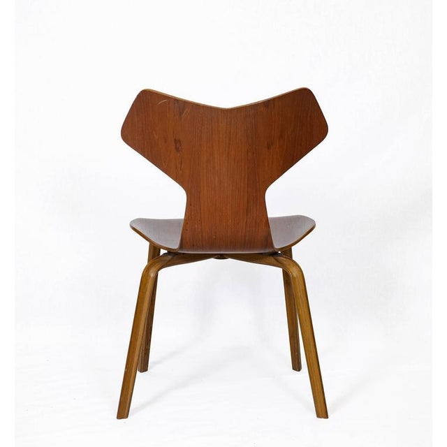 "Brown Set of Four Arne Jacobsen ""Grand Prix"" Chairs For Sale - Image 8 of 10"