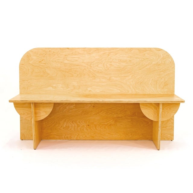 Contemporary Birch Plywood Apollo Bench For Sale - Image 3 of 3