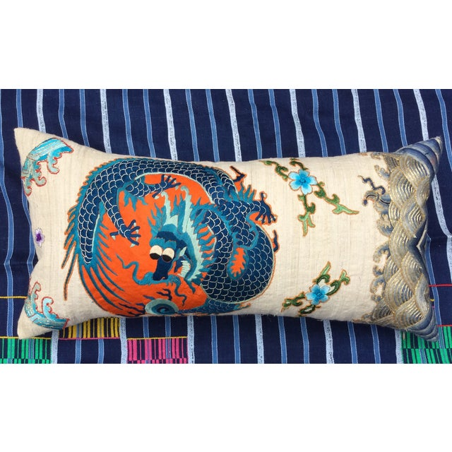 Chinese Emperor's Opera Robe Dragon Pillow - Image 2 of 8