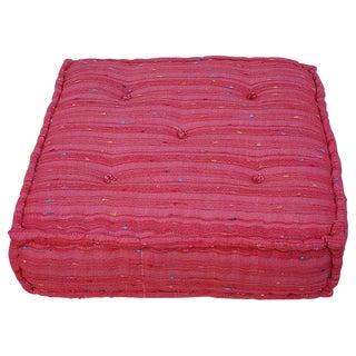 Moroccan Handmade Fabric Meditation Pouf For Sale