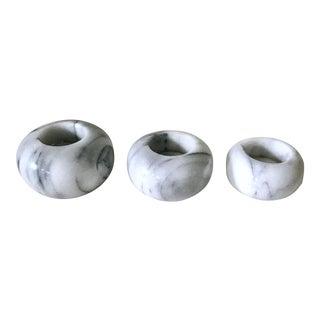 Marble Tea Light Holders - Set of 3