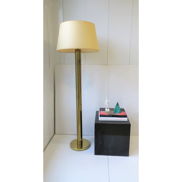 Koch & Lowy Modern Brass Floor Lamp by Koch and Lowey For Sale - Image 4 of 13