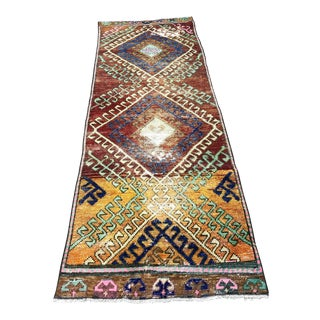 1960s Vintage Turkish Oushak Runner Rug - 2′8″ × 8′ For Sale