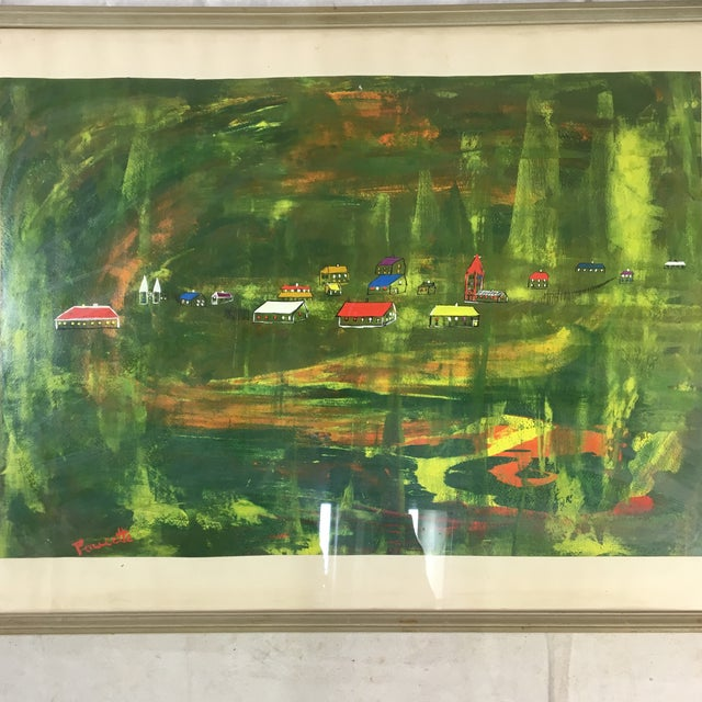Abstract Late 20th Century Abstract Landscape Painting, Framed For Sale - Image 3 of 8