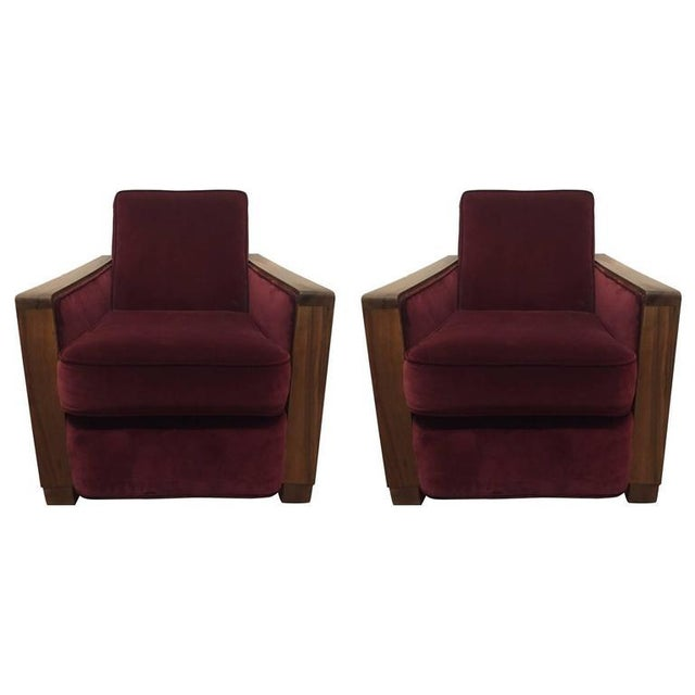 Pair Art Deco Club Chairs Attributed to Jacques Adnet For Sale In New York - Image 6 of 6