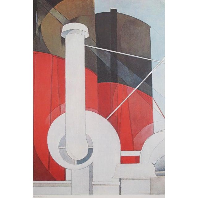 1977 Original Exhibition Poster, Charles Demuth, Paquebot Paris For Sale - Image 6 of 7