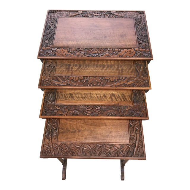 Antique Nesting Tables - Set of 4 For Sale