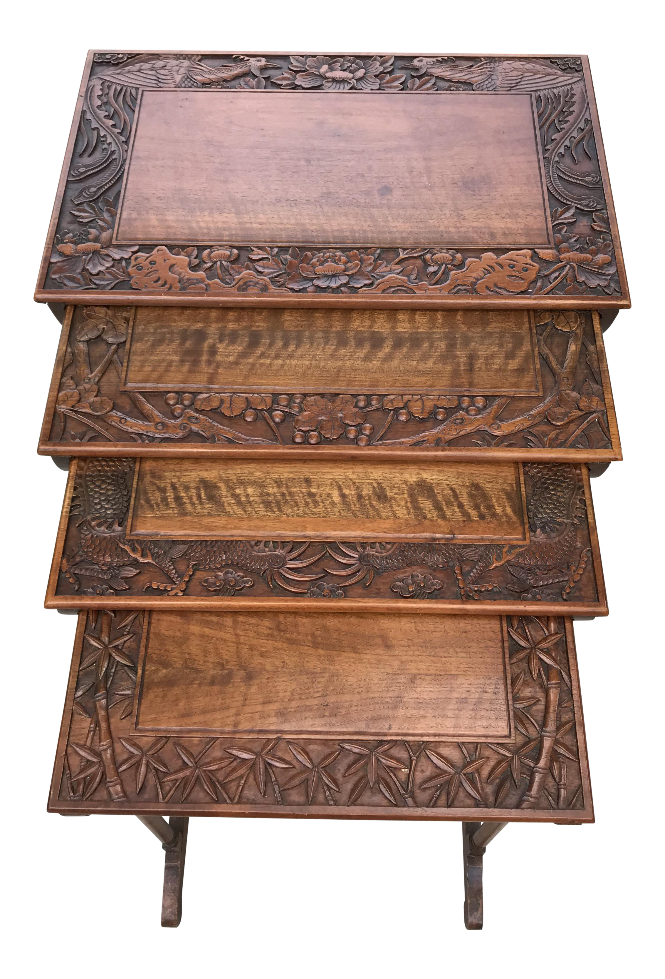 Antique Nesting Tables   Set Of 4 For Sale
