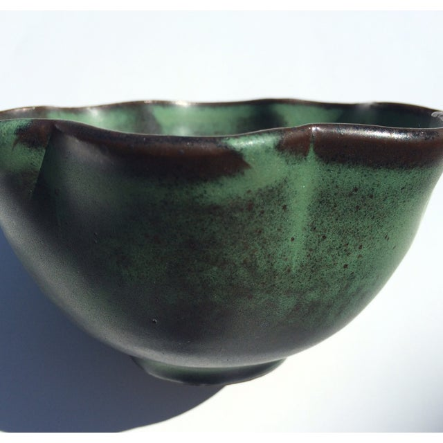 Studio Rosette Flower Green Ceramic Bowl - Image 5 of 6
