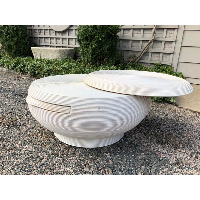 White Gabriela Crespi Style Mid-Century Modern Round Cocktail Table For Sale - Image 8 of 13