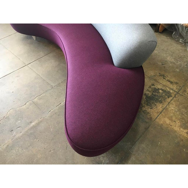 Black Vladimir Kagan Serpentine Sofa For Sale - Image 8 of 11