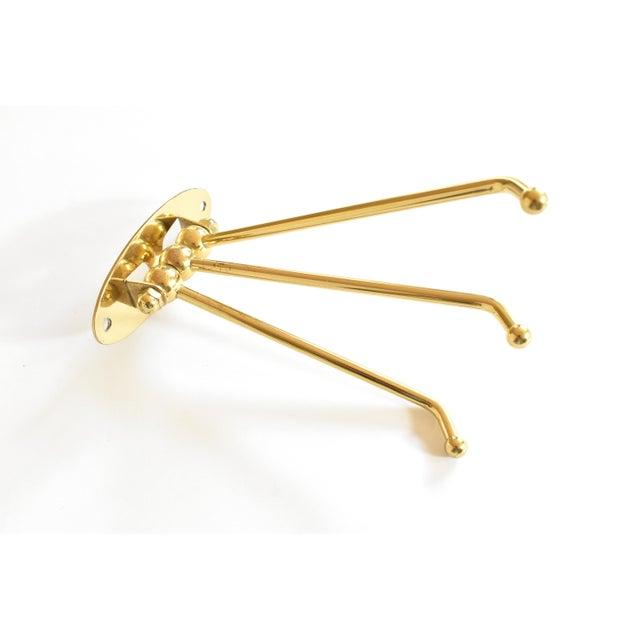 Vintage Brass 3-Prong Folding Swivel Hook For Sale - Image 4 of 7