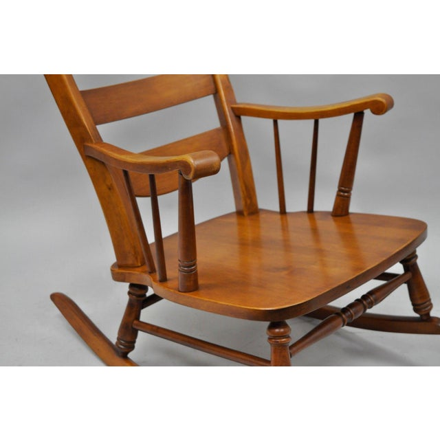 Mid-Century Tell City Maple Sculptural Ladder Back Rocking Chair For Sale - Image 5 of 11