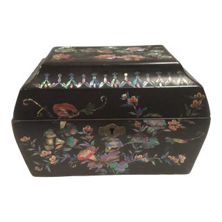 Japanese Lacquered Tea Box For Sale