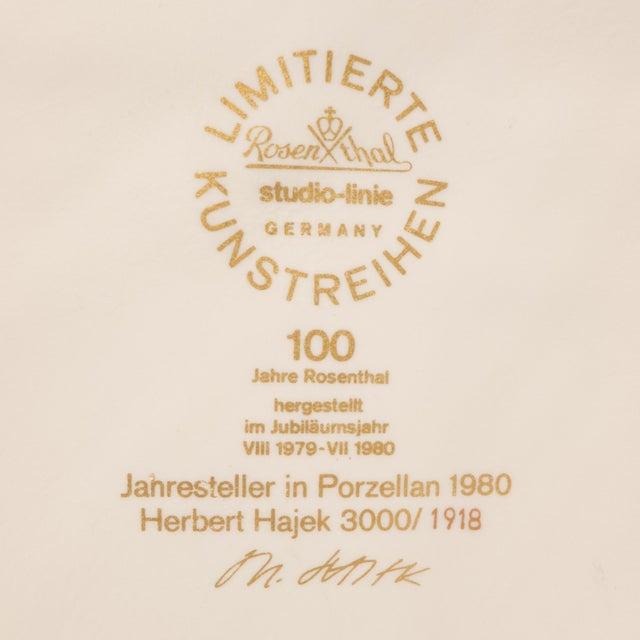White Rosenthal Jahresteller Plaque by Otto Herbert Hajek For Sale - Image 8 of 8