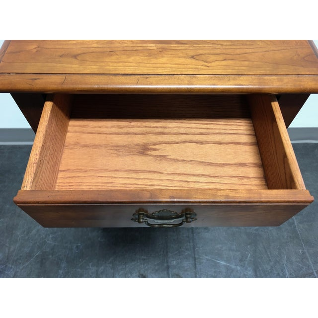 Solid Cherry Chippendale Nightstand by Cherry Hill Collection For Sale - Image 9 of 12