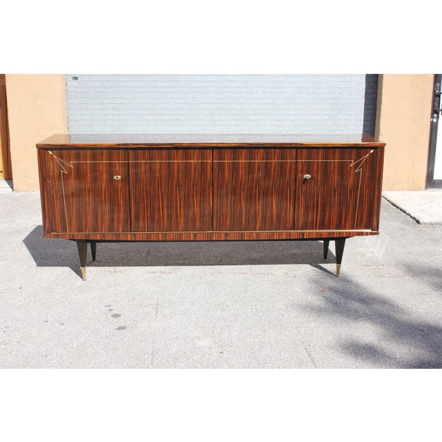 1940s 1940s French Art Deco Macassar Ebony Sideboard/Buffet For Sale - Image 5 of 13