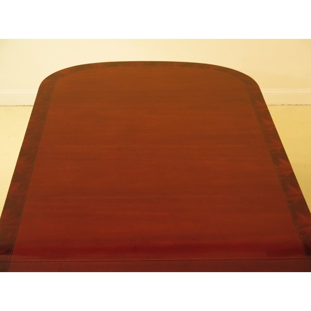 1990s Vintage Kindel NeoClassical Mahogany Dining Room Table For Sale - Image 11 of 13