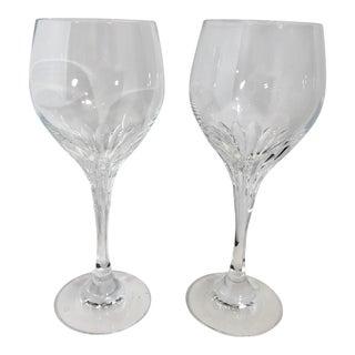 "Schott Zwiesel ""Revue"" Oversized Cut Glass Water Goblet - a Pair For Sale"