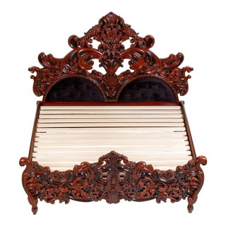 Contemporary Baroque Style Bedframe For Sale