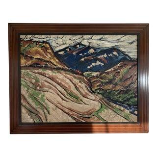 Vintage Mid-Century Impasto Oil on Canvas Painting For Sale