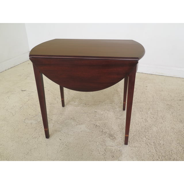 1990s Vintage Henkel Harris Mahogany Pembroke End Tables- A Pair For Sale - Image 10 of 12