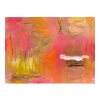 """""""Campfire"""" by Trixie Pitts Large Abstract Expressionist Oil Painting For Sale"""