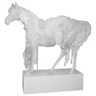 Lifesize Fiber Glass Art Horse For Sale