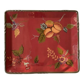 Tracy Porter Octavia Hill Ceramic Serving Tray For Sale