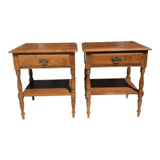Mid-Century Ethan Allen Nightstands - A Pair For Sale