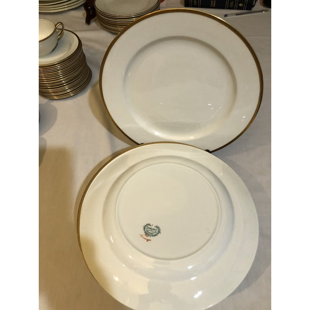 18th Century W. H. Grindley & Co Chine Marengo Pattern White Gold Trim Dinnerware - 83 Pieces For Sale - Image 11 of 13
